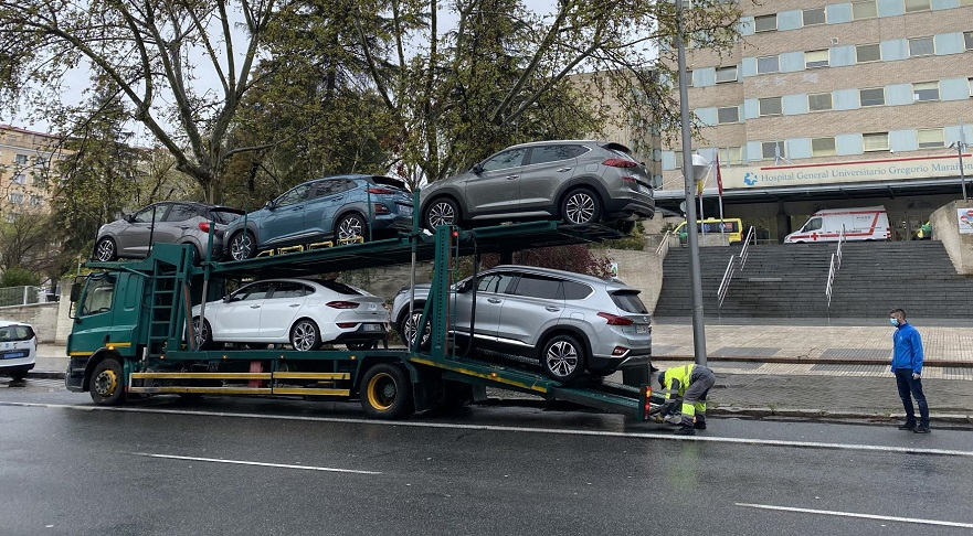 Hyundai, una de las primeras en ayudar en España.
