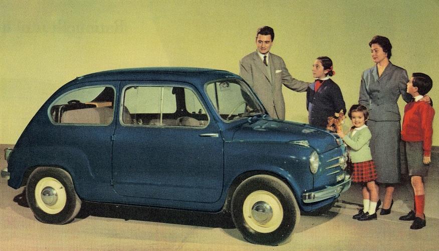 El Fiat 600, el más deseado en Europa durante los años 50.