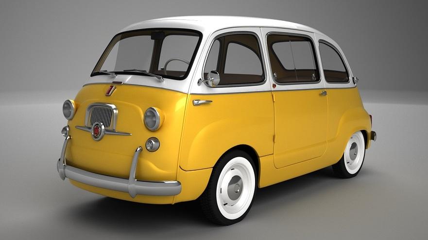 Multipla, una versión del Fiat 600 más familiar.