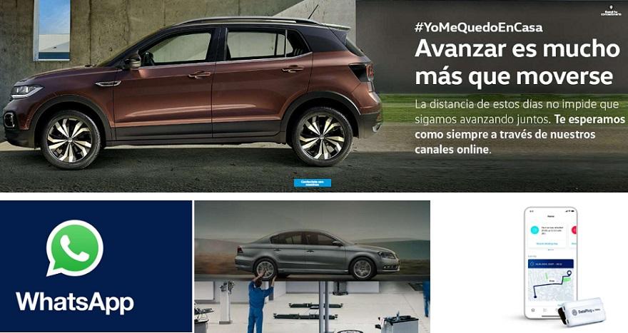 Volkswagen invita a quedarte en casa y te atiende por whatsapp.