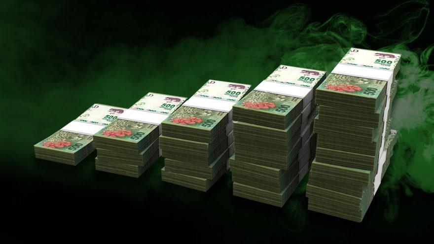Emisión de pesos para cubrir el déficit fiscal: