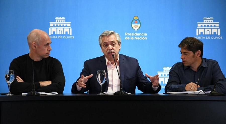 Alberto Fernández anunciará este jueves, junto a Rodríguez Larreta y Kicillof, la nueva etapa de la cuarentena