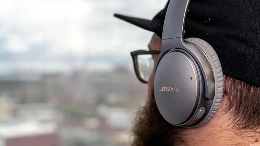 Los auriculares de Bose tiene una diadema muy cómoda.