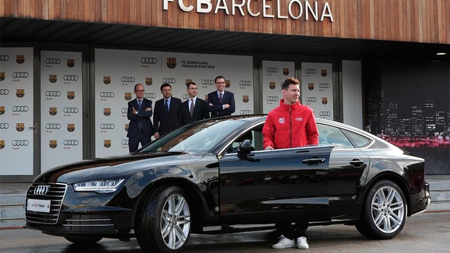 Audi, el auto que muchos años acompañó a Messi.