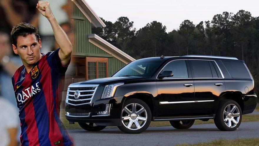 Cadillac, un SUV de Messi, que también usó Obama.