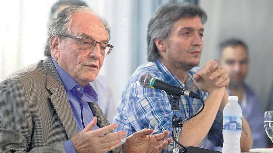 Heller y Máximo Kirchner, principales impulsores del proyecto.