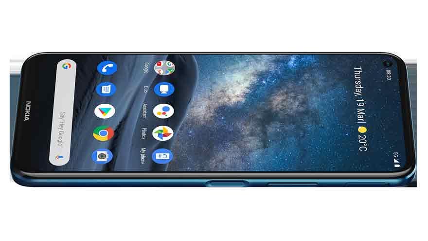 El Nokia 8.3 5G ejecuta la última versión de Android 10 totalmente puro.