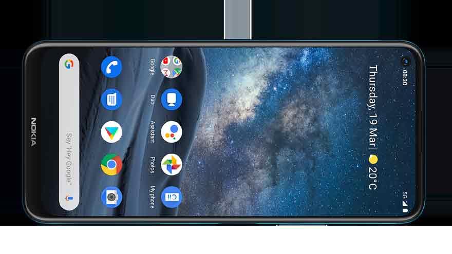 El Nokia 8.3 5G tiene un botón dedicado de Google Assistant.