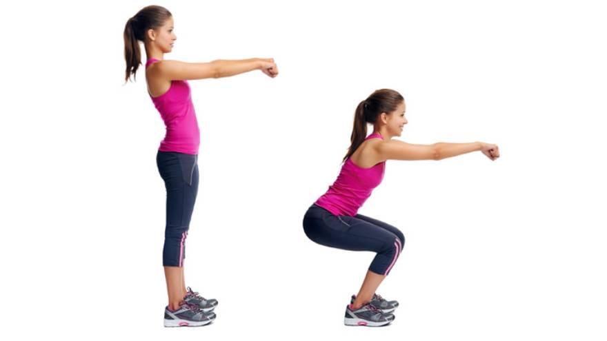 Las sentadillas fortalecen los músculos de los glúteos y de las piernas