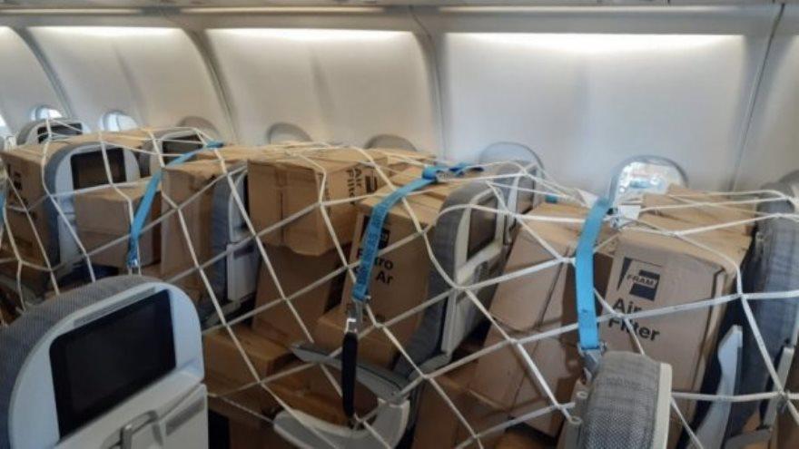 El vuelo para traer insumos médicos desde China fue objeto de reivindicación política por parte del Gobierno