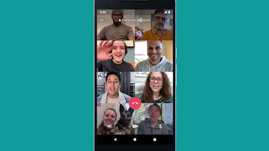 Este año WhatsApp elevó a 8 la cantidad de personas en videoconferencia.