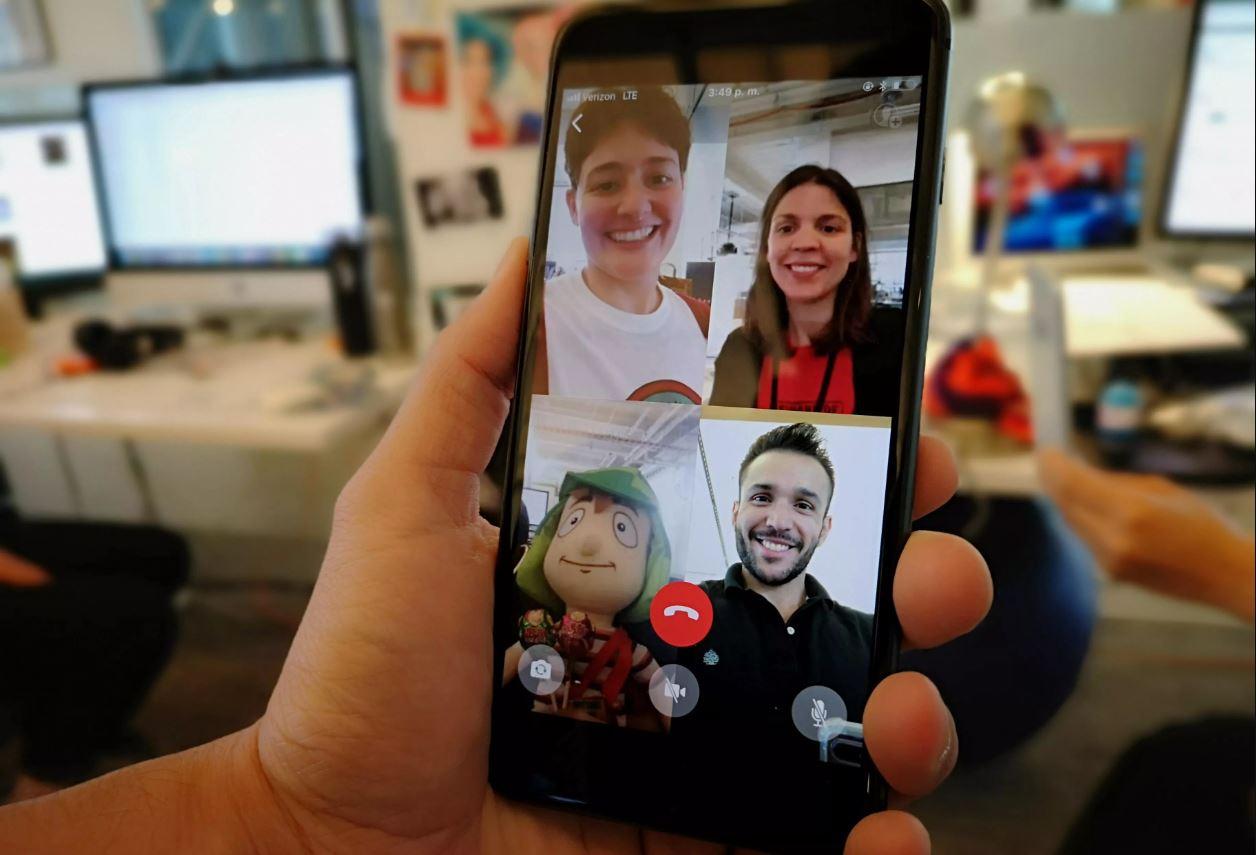 WhatsApp hoy tiene un límite de hasta 8 participantes en una videollamada.