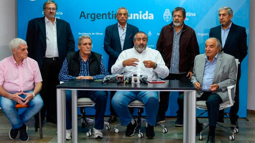 Acuña integra la conducción de la CGT junto a Héctor Daer, también apuntado por Máximo Kirchner