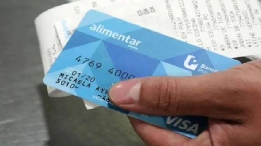 La Tarjeta Alimentar permite comprar alimentos. En diciembre se duplican los montos.