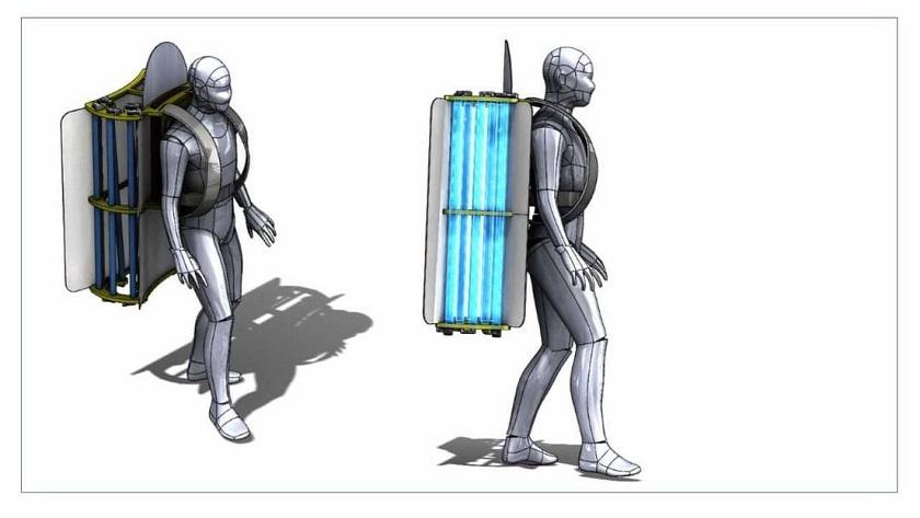 Crean una mochila para evitar contagios en el transporte