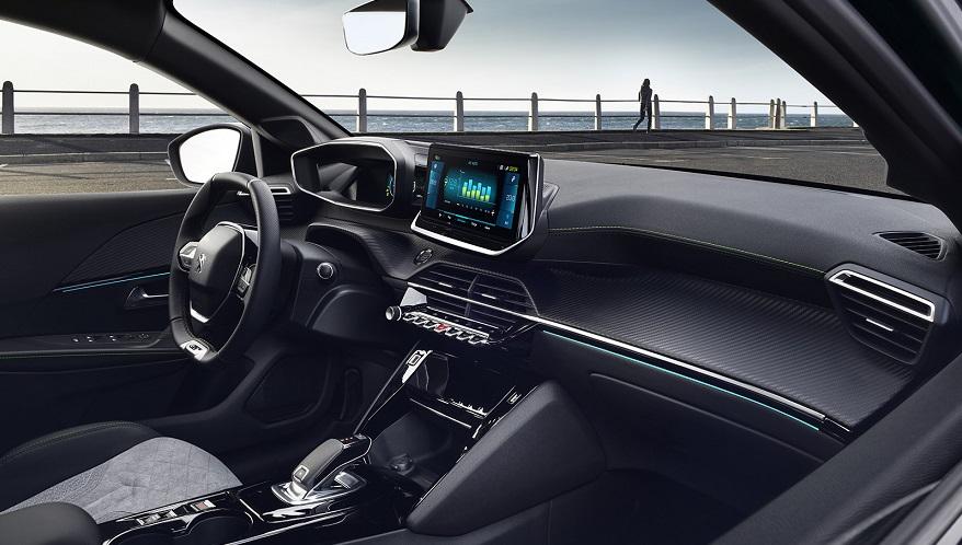 Peugeot 208 por dentro, muy sofisticado.
