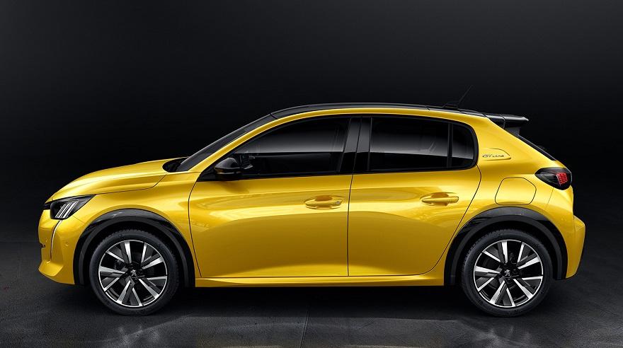 Así es el perfil del nuevo Peugeot 208.