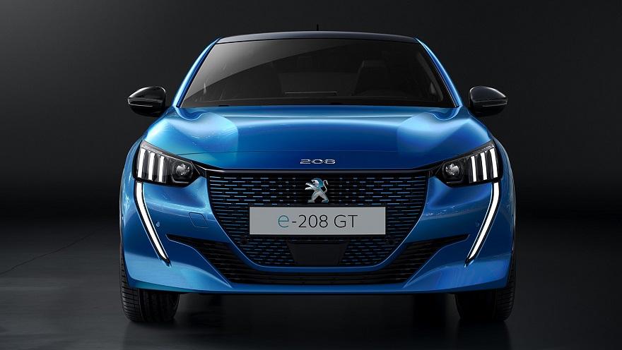 Peugeot 208 2020, com motor eléctrico.
