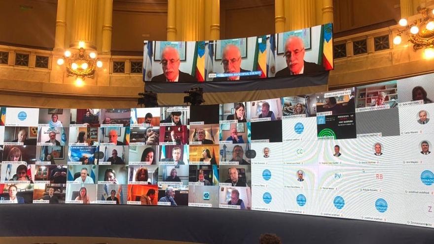 En sesiones virtuales, el Congreso avaló el canje de deuda emitida bajo la legislación argentina