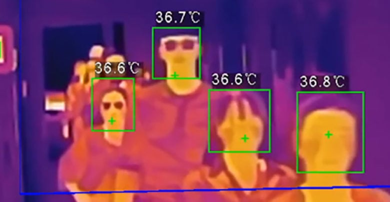 El control térmico agiliza el flujo de personas.