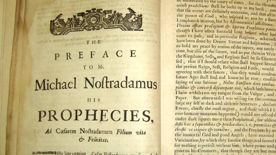 Una de las ediciones del libro de Nostradamus