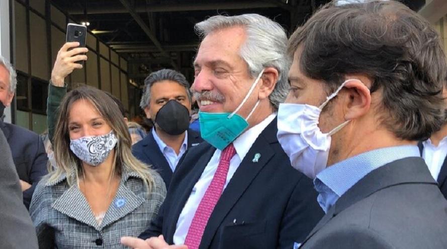 Alberto Fernández estuvo junto a Axel Kicillof y Malena Galmarini