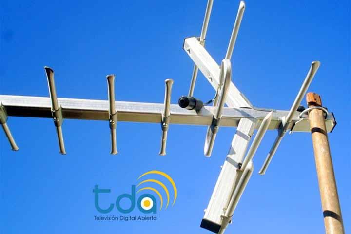 Esta es la antena que permite recepcionar el servicio de la TDA