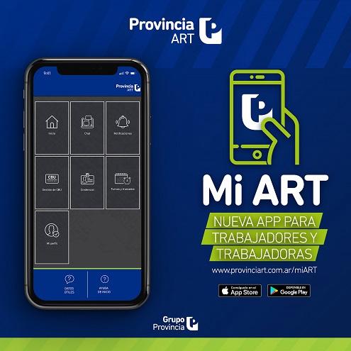 Mi ART, la nueva app de ProvinciaART
