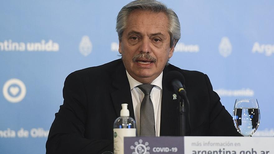 Alberto Fernandez confundió a Scania con Skanska