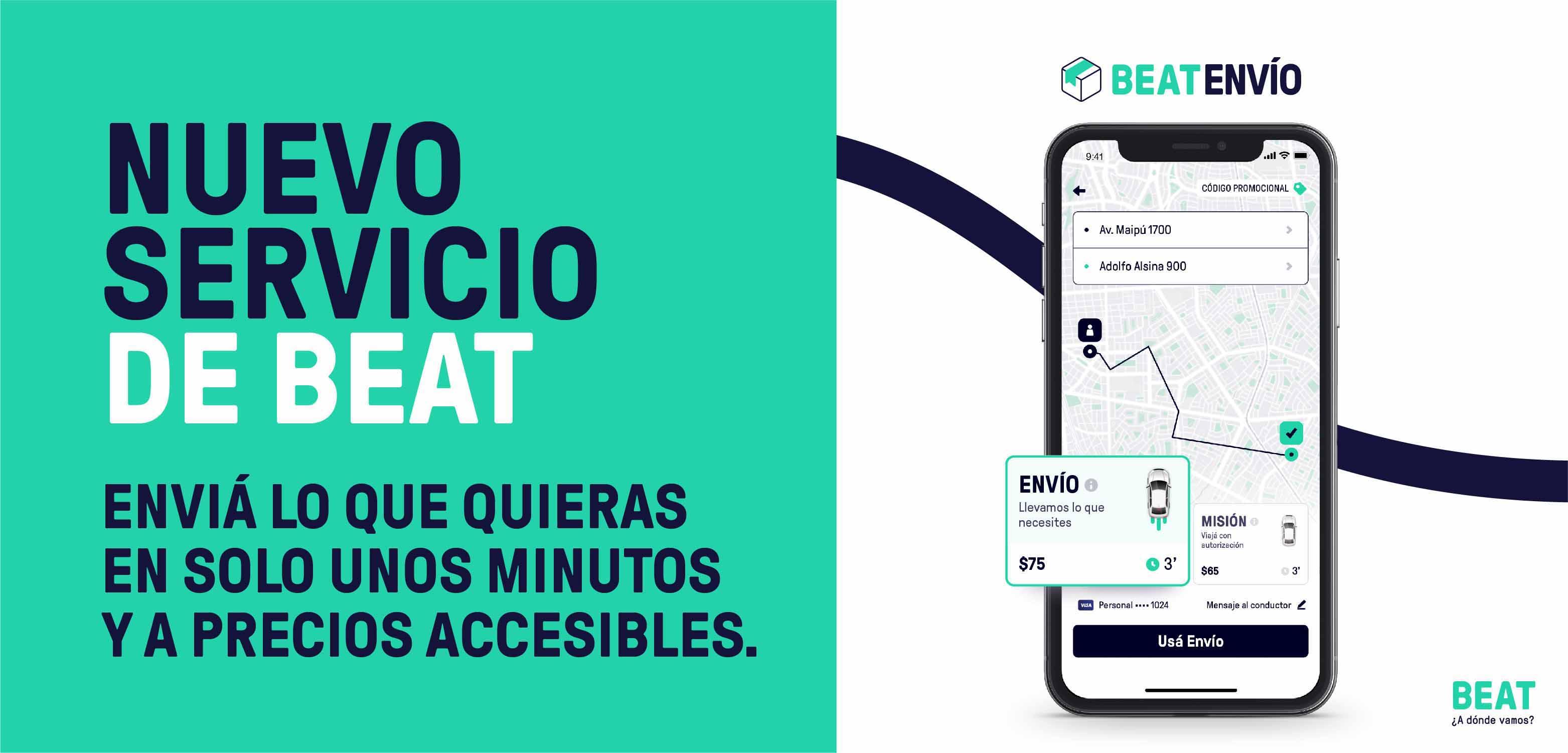 Beat fue la primera app de movilidad en lanzar el servicio de Envíos cuando comenzó la cuarentena y la competencia la siguió