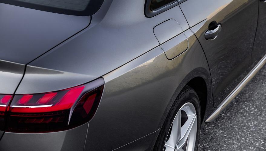 Audi A4, su vista posterior.