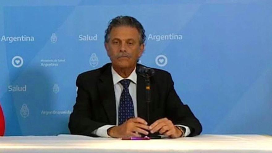 Tomás Orduna, en uno de los informes del ministerio de Salud