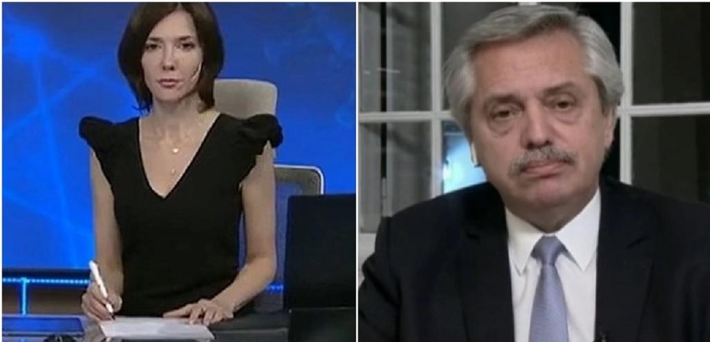 Cristina Pérez y Alberto Fernández mantuvieron un duro cruce durante una entrevista televisiva