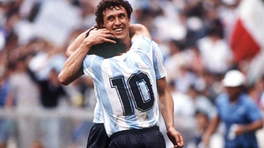 Maradona y Valdano, socios en la gesta de México 86