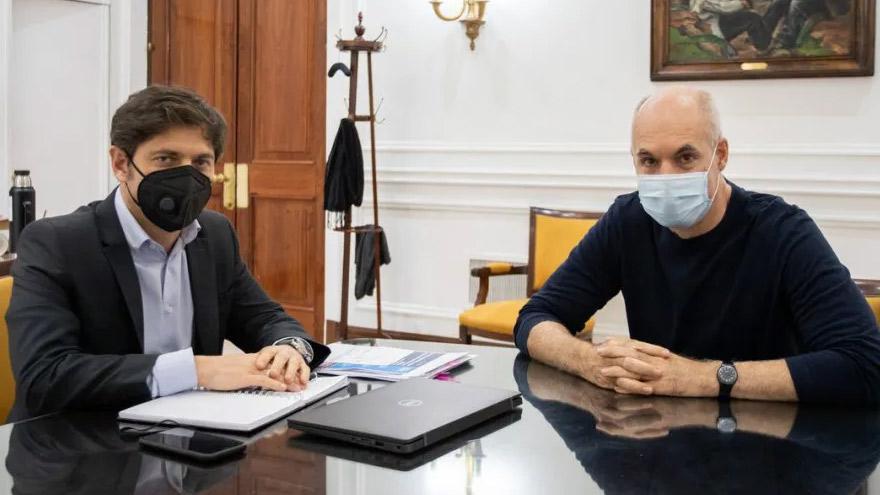 Kicillof y Rodríguez Larreta ajustan detalles sobre cómo seguirá la cuarentena en el AMBA.