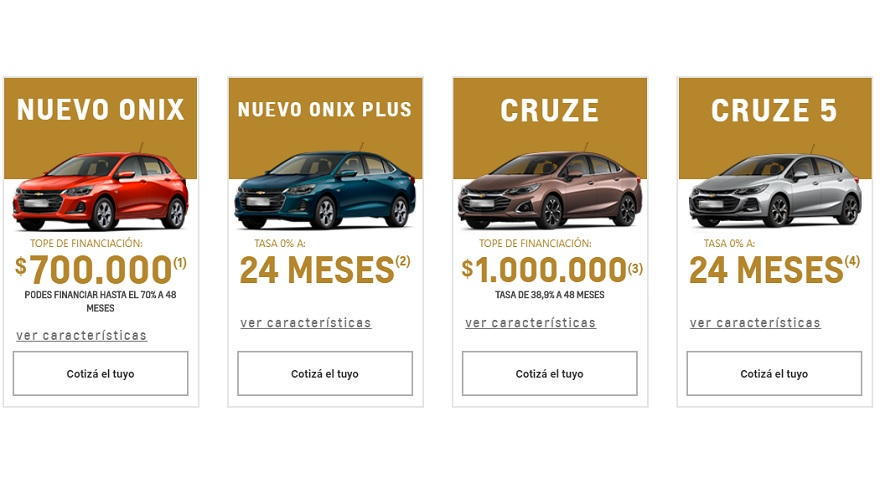 Chevrolet financia diferentes modelos hasta en 48 meses.
