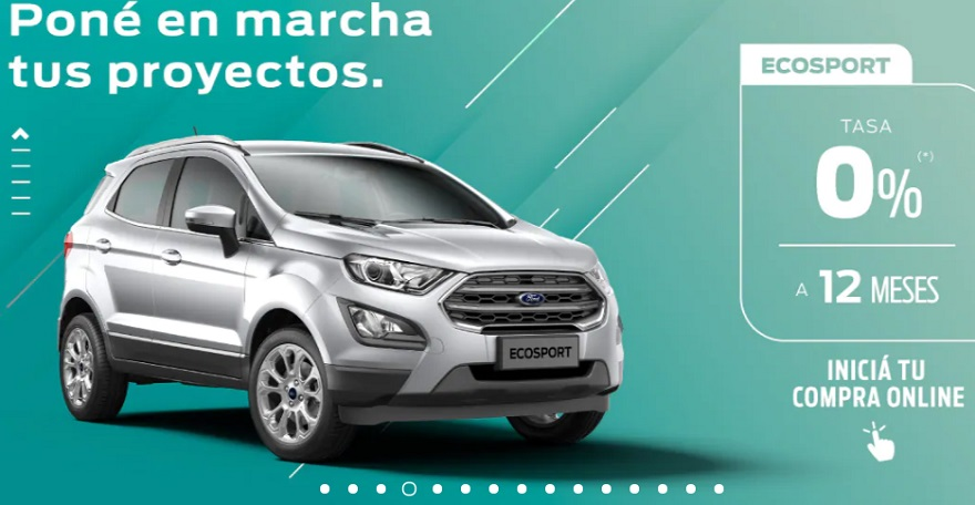 Ford Ecosport, con plazo a 12 meses.