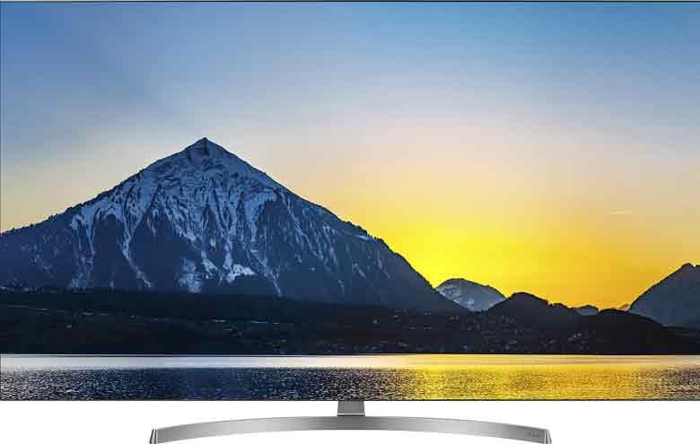 El televisor de LG ofrece un diseño elegante bisel metálico.