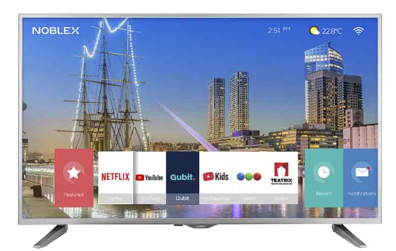 Noblex lanza un TV con varios servicios de streaming integrados.