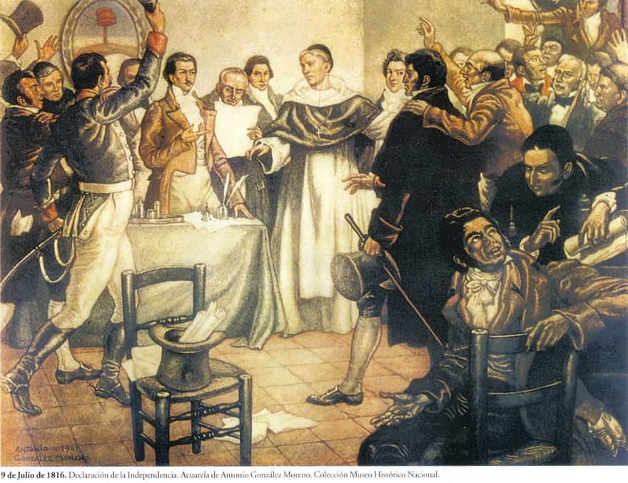 Los diputados del interior del país sesionaron en Tucumán hasta proclamar la Declaración de la Independencia.
