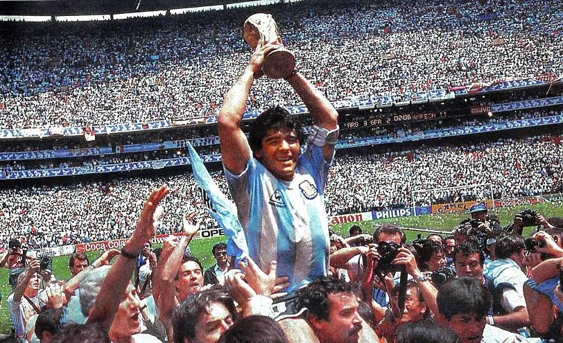 Maradona lideró a la selección argentina que se consagró campeona mundial en 1986