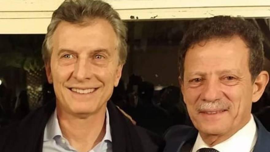 Julio Sahad junto al expresidente Mauricio Macri