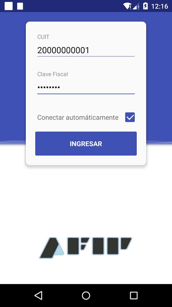Así se ve la primera pantalla que se ve en la app cuando se abre para hacer una factura electrónica