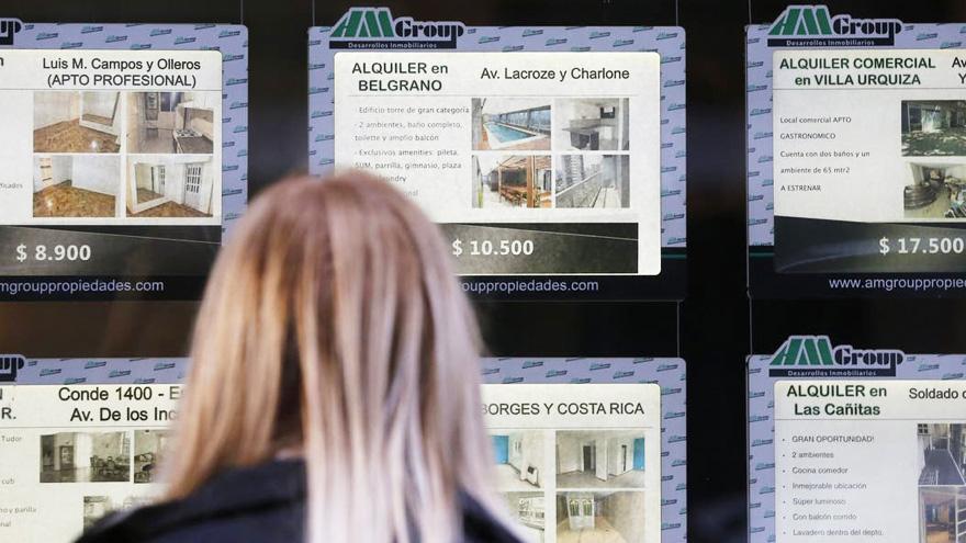 Nueva ley de alquileres, con actualización de precios por año.