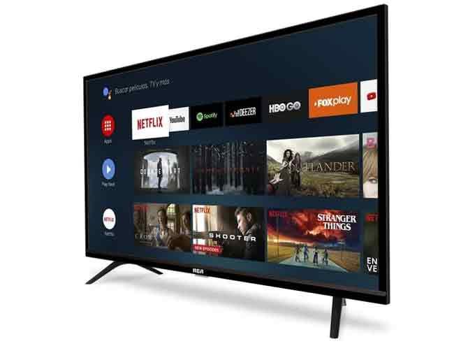 Este televisor de RCA incluye la plataforma de aplicaciones de Google.
