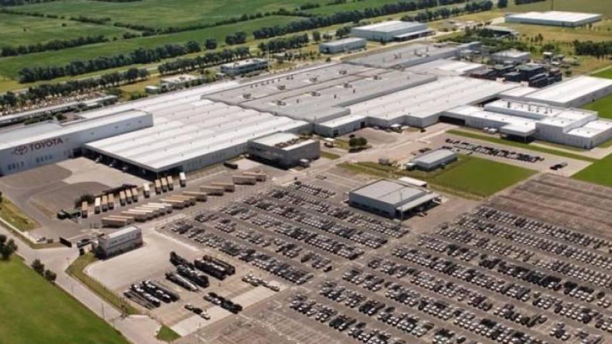 Planta de Toyota en Zárate, donde se fabrica Hilux.