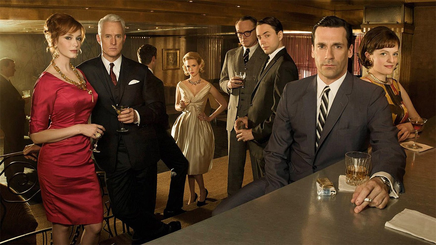 Mad Men, una de las series mejor calificadas por críticos y público.