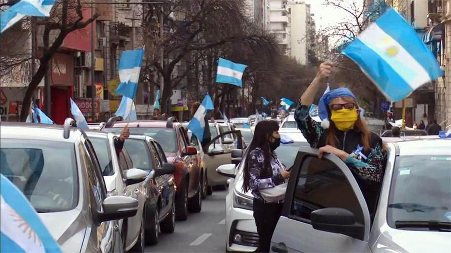 El banderazo se produjo en las principales ciudades del país.