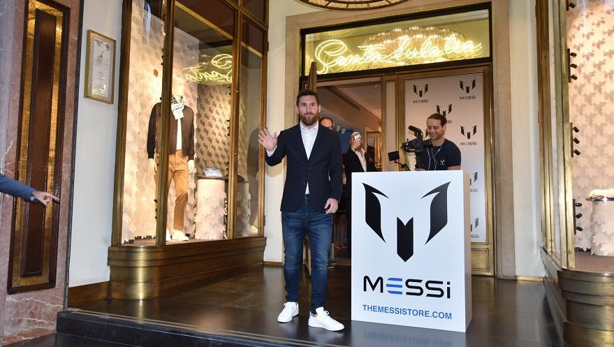 The Messi Store, otro de los negocios del líder del Barcelona.