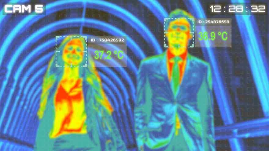 Las cámaras monitorean datos vitales de las personas.